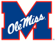 Ole Miss M alternate logo-Yale Blue