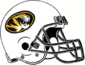 NCAA-SEC-Mizzou Tigers White Helmet w. Black facemsk