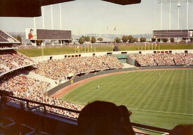 Oakland Coliseum outfield 1980