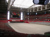 University of Phoenix Stadium no field