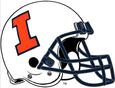 NCAA-Big 10-Illinois Fighting Illini White helmet