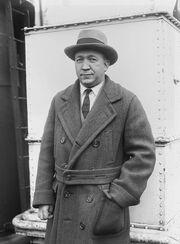 Knute Rockne on ship's deck