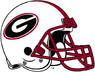NCAA-SEC-Georgia Bulldogs White helmet red facemask