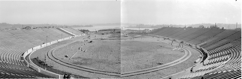 Seattle - Husky Stadium under construction - 1920