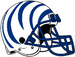 NCAA-AAC-Memphis Tigers white blue bengal Striped helmet