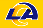 NFL-NFCW-LA Rams 2020 logo-gold background