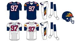 WLAF-Birmingham Fire jerseys