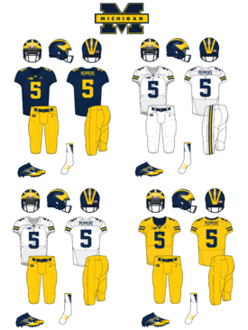 NCAA-Big 10-Michigan Wolverines uniforms
