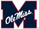 Ole Miss M alternate logo-Navy Blue