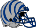 NCAA-AAC-Memphis Tigers silver blue bengal Striped helmet