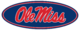 Ole Miss Oval logo-Yale Blue