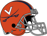 NCAA-ACC-2019 Virginia Cavs Orange helmet