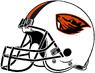 NCAA-PAC12-Oregon State Beavers helmet-white-right side