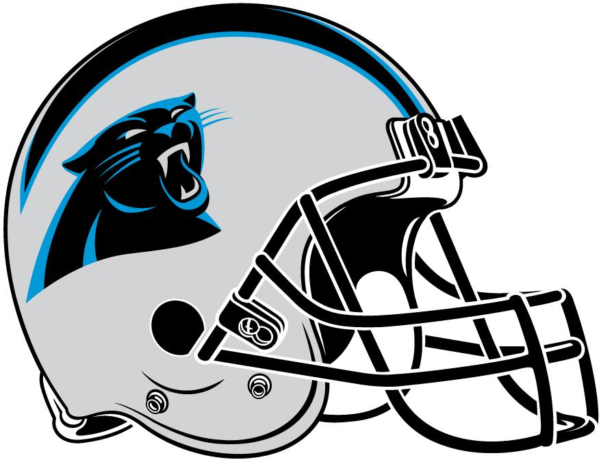 1//6th Scale Carolina Panthers Football Helmet