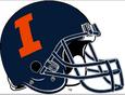 NCAA-Big 10-Illinois Fighting Illini Blue helmet