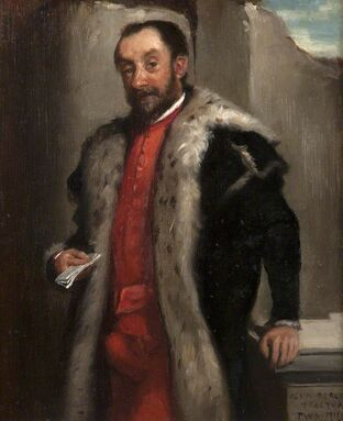 Nobleman with letter
