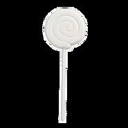 White Cherry Swirl Lollipop