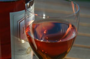 Bordeau a glass of rose wine playing with the sun 5