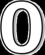 White Number Zero