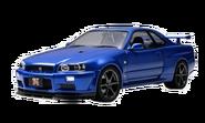 Blue Nissan Skyline GTR