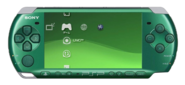 Green PSP Console