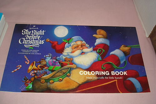 file1988 hallmark the night before christmas coloring bookjpg
