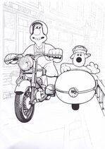 Wallace & Gromit A Close Shave Colouring