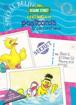 Sesame Street Feeling Fit Postcards To Color And Send