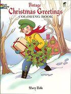 Vintage Christmas Greetings Coloring Book