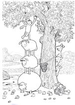 Shaun The Sheep Apple Picking Colouring