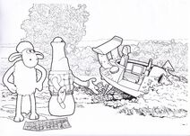 Shaun The Sheep The Visitor Colouring