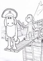 Shaun The Sheep The Boat Colouring