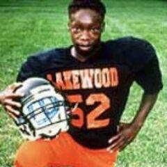 Shoels in his football football uniform at Lakewood.