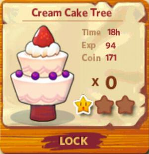Cream Cake Tree