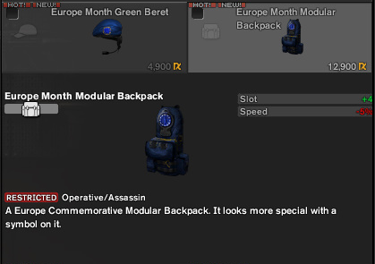 Europe month modular backpack