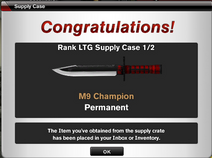 M9 Champion rankup