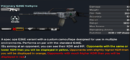 Visionary G36E Valkyrie in-game stats