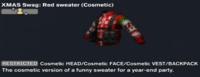 XMAS Swag Red sweater (Cosmetic)