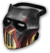 Skull Mask (Flames) High Resolution