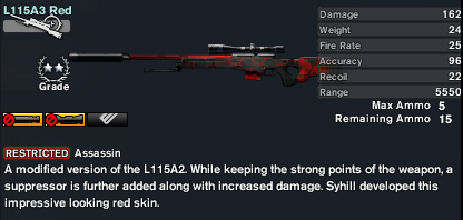L115A3 Red (The Arsenal)