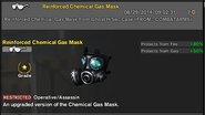 Combat arms reinforced chemical gas mask