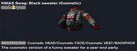 XMAS Swag Black sweater (Cosmetic)