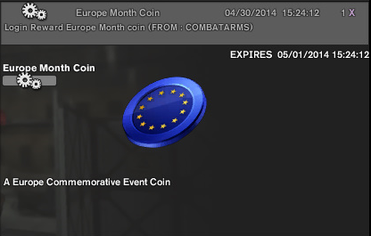 Europe month coin