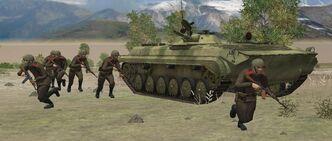 BMP-1 dismounting