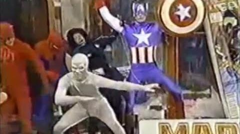 1989 Marvel Universe Thanksgiving Parade Performance and Spiderman Balloon