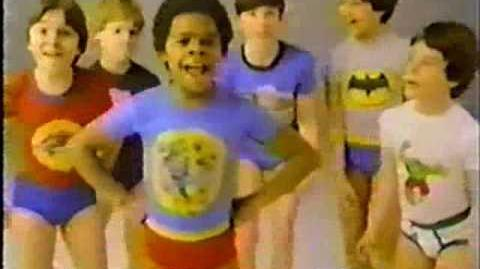 1980 Underoos Batman Hulk Commercial