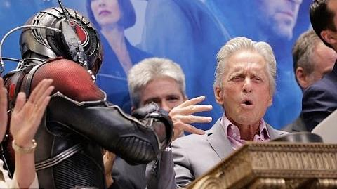 Michael Douglas and Marvel's Ant-Man ring NYSE closing bell