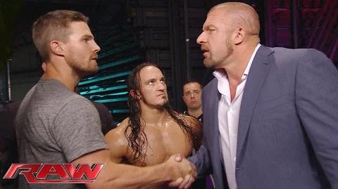 """Arrow"" star Stephen Amell gets a match at SummerSlam Raw, Aug. 10, 2015"