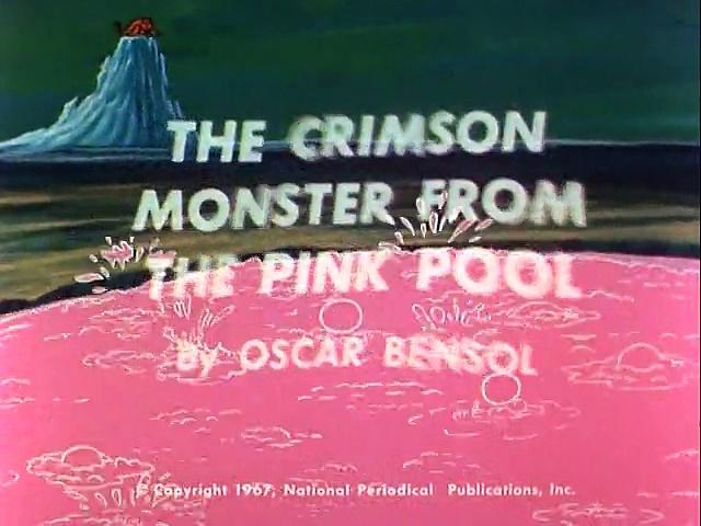 Filmation 1967: The Adventures Of Aquaman s1 ep08 The Crimson Monster From The Pink Pool
