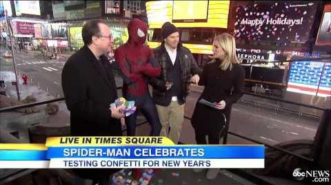 'The Amazing Spider-Man 2' New Years Eve Prep. With Spidey & Marc Webb!